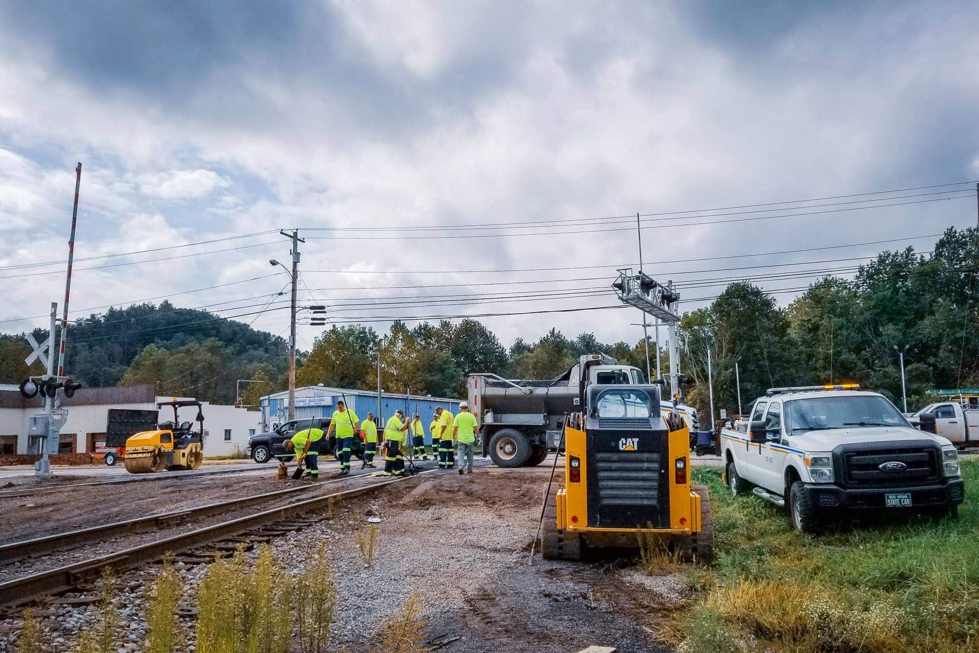 Railroad crossing on Route 20 repaired