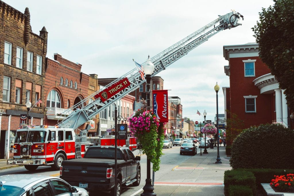 Smoke at Upshur County Courthouse Annex