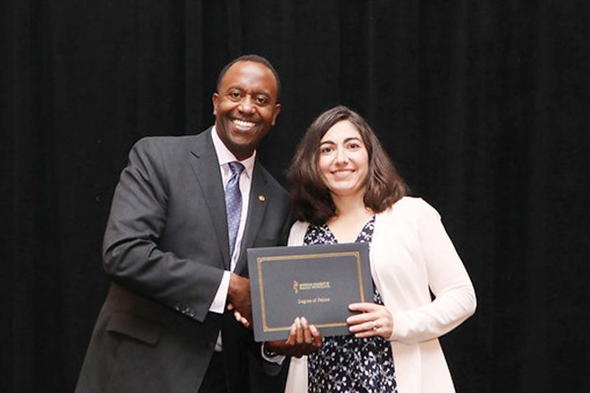 Dr. Johanna Biola, FAAFP achieved the Degree of Fellow of the American Academy of Family Physicians. Gary LeRoy, MD, is the President of AAFP, and presented Dr. Biola her diploma during a formal convocation on September 27.