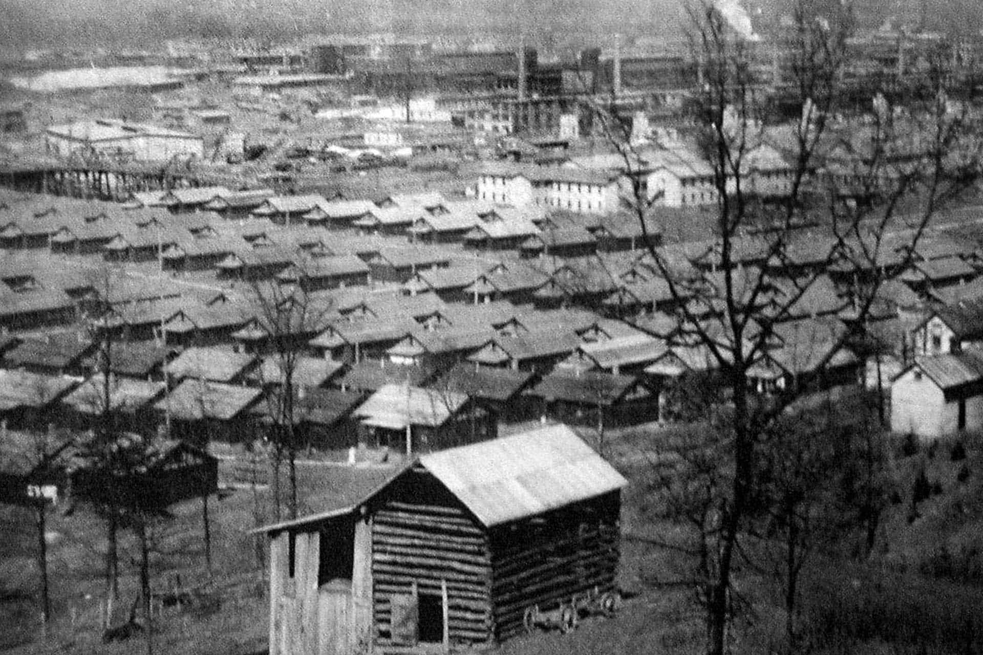 Nitro Explosives Plant in Background-1918 Worker Housing in Foreground