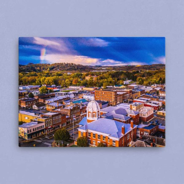 Buckhannon from Above – Canvas Print