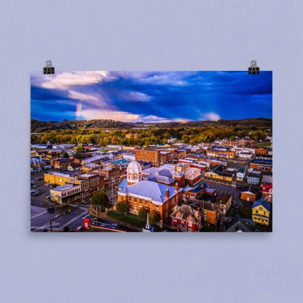 Buckhannon From Above – Poster Print