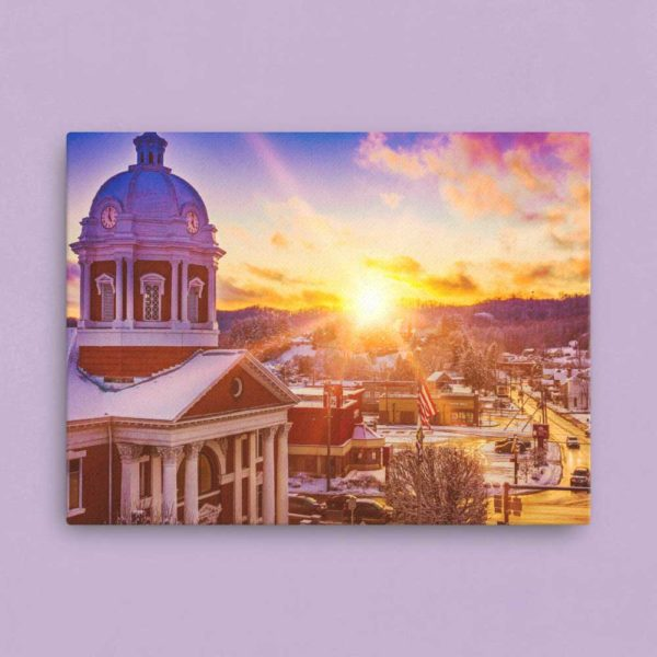 Courthouse at Sunset – Canvas Print