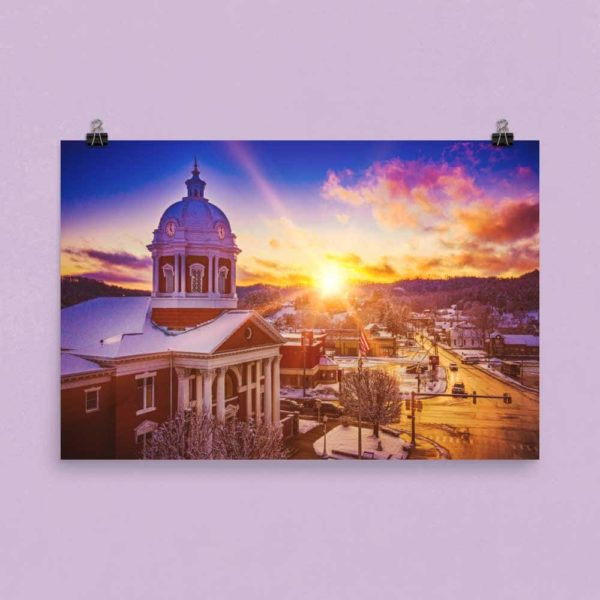 Courthouse at Sunset – Poster Print