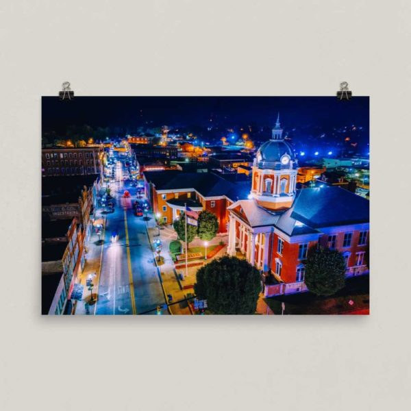 Main Street at Night – Poster Print