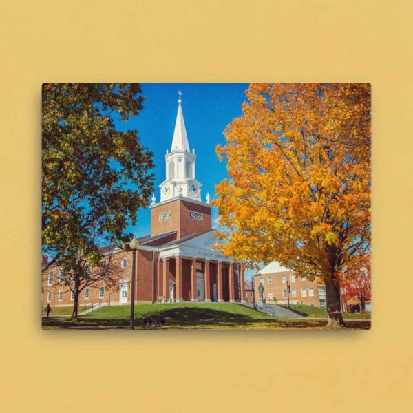 Wesley Chapel in Fall – Canvas Print