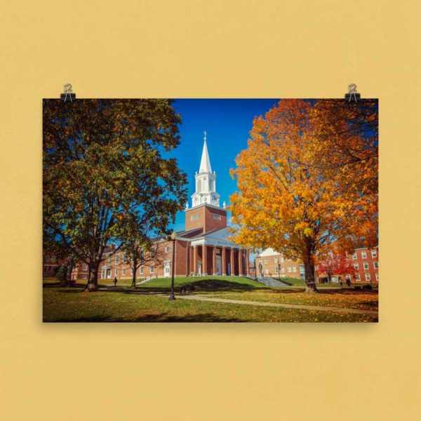 Wesley Chapel in Fall – Poster Print