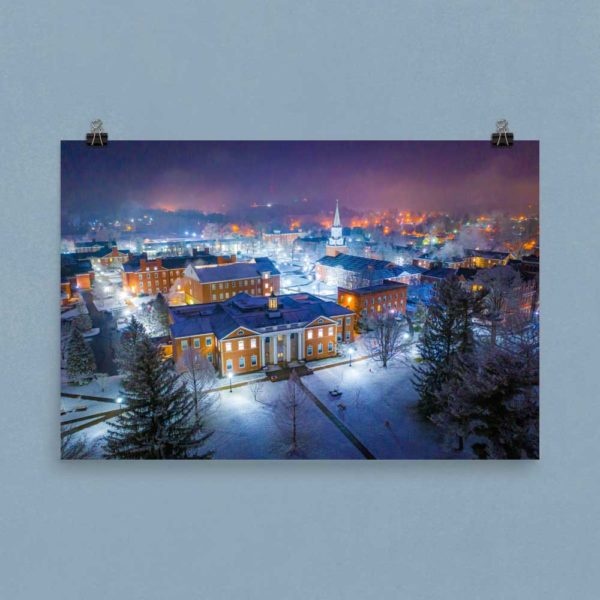Wesleyan in Winter – Poster Print