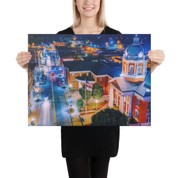 Main Street at Night – Canvas Print