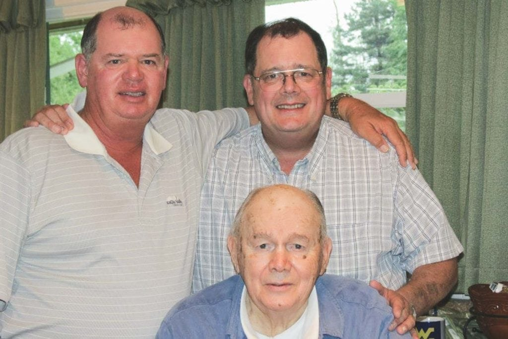 Chad and Steve Shaffer with their late father, Charles.