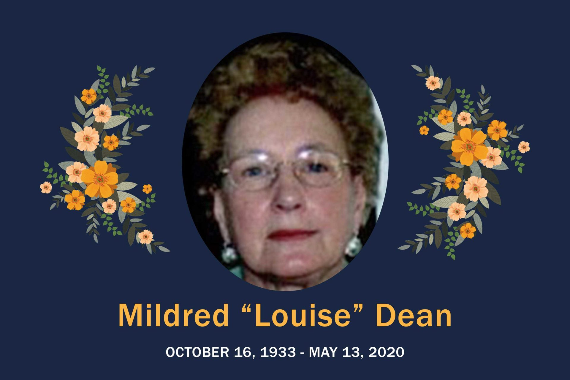 "Obituary Mildred ""Louise"" Dean"