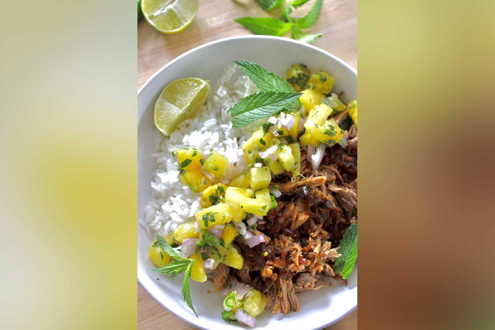 Sara Stirs: Shredded pork with pineapple relish featuring local meat? Yes, please!