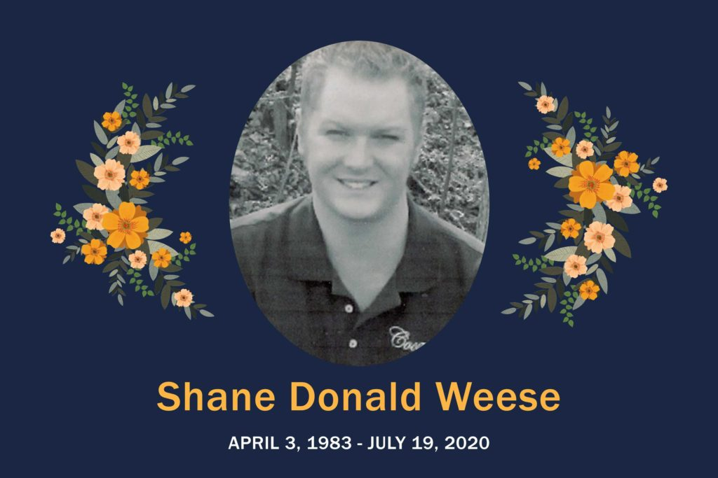 Obituary Shane Weese