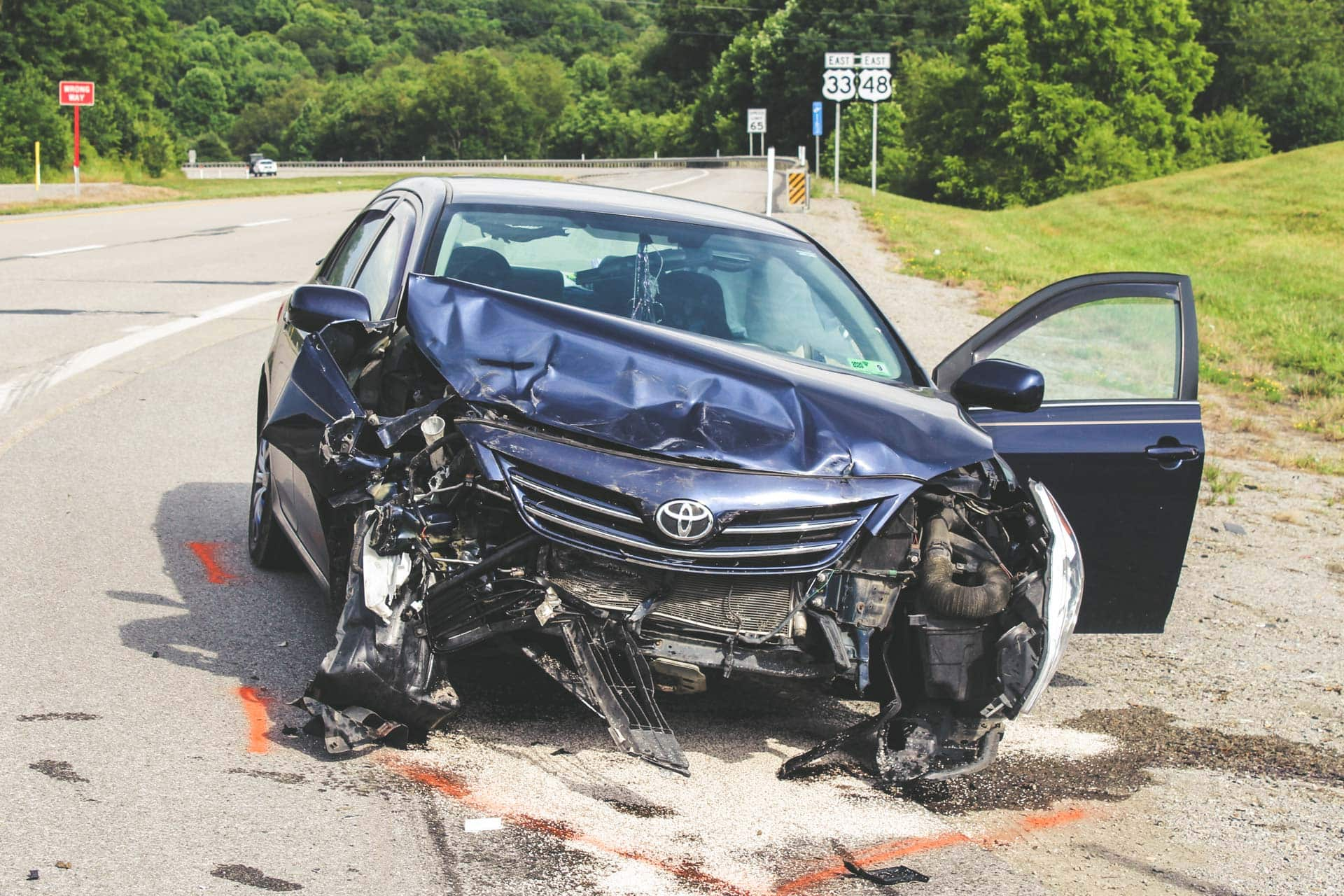 Three vehicles involved in wreck at Route 33 / Kesling Mill intersection