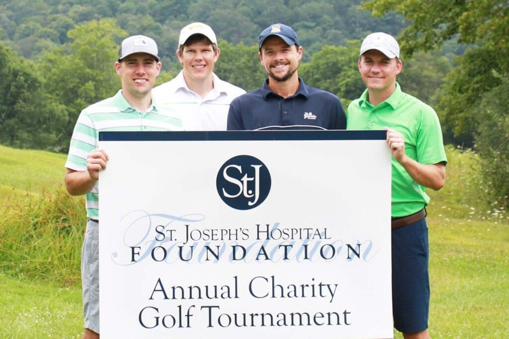First Place: Radiological Physician Associates with players Dan Carrier, Daniel DiGiovine, Zach Mace, and Scott Smith.