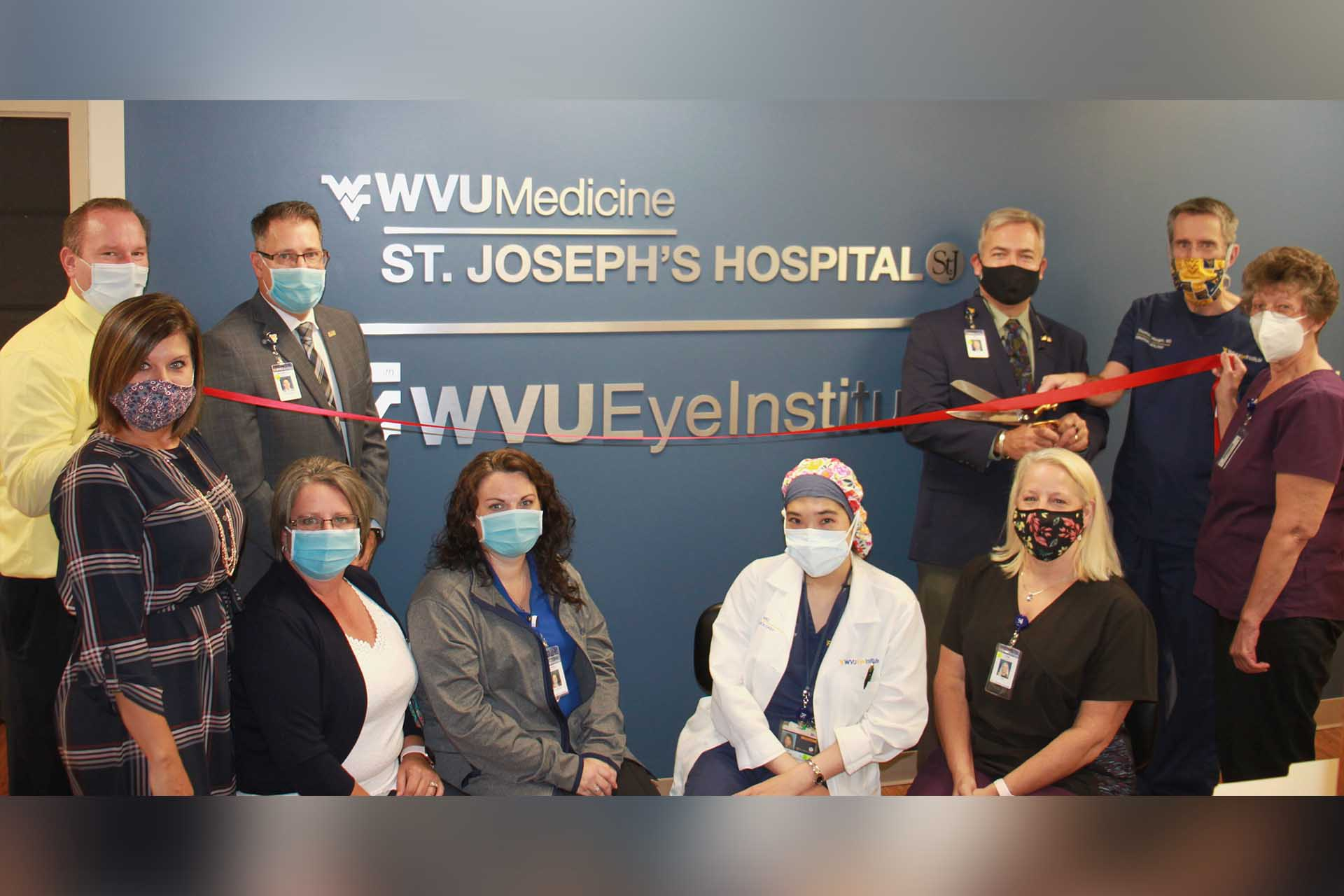 St. Joseph's Ophthalmology Clinic holds ribbon cutting at new location