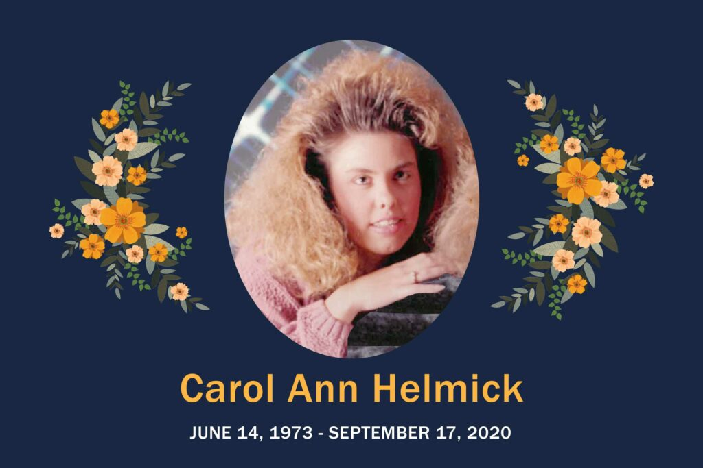 Obituary Carol Helmick