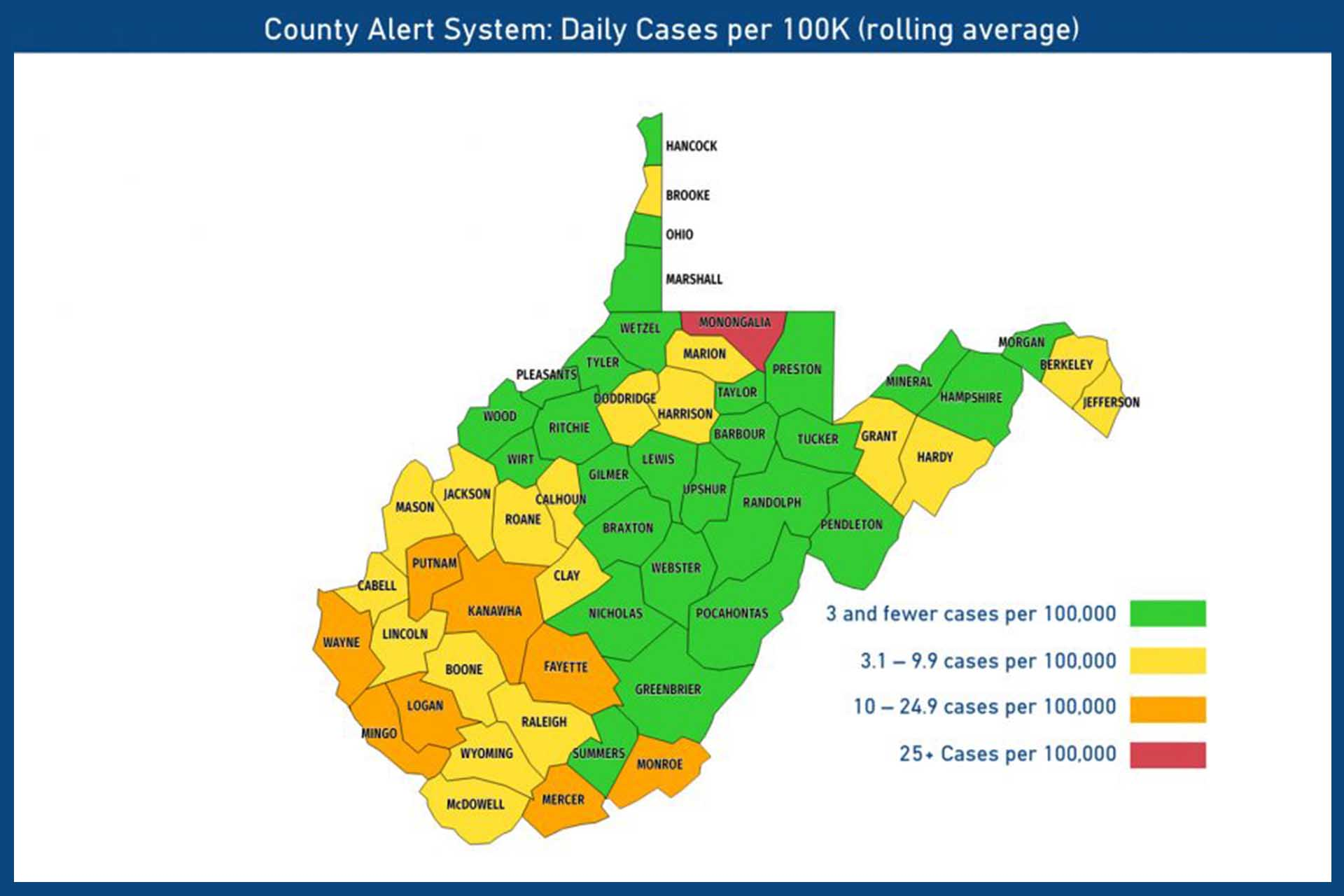 No school for nine counties as WVDE releases color-coded map for the upcoming week