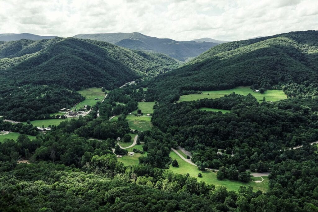 The view from the top of Seneca Rocks