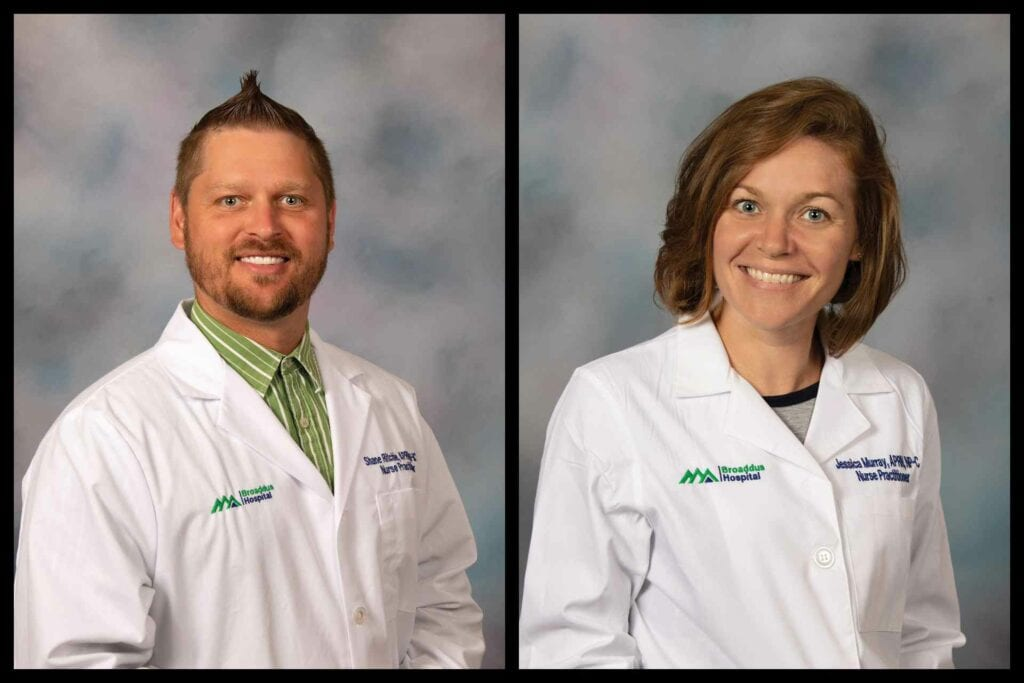 Shane Ritchie, APRN, FNP-BC, and Jessica Murray, APRN, NP-C