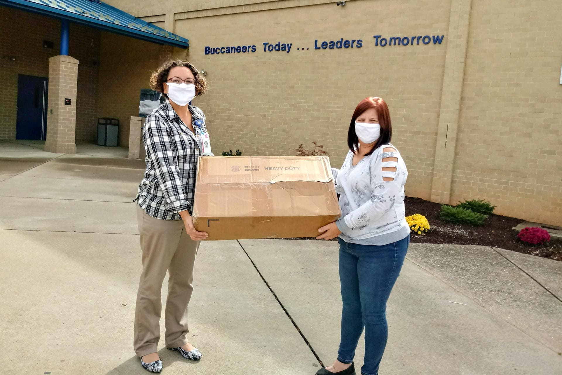 Aleris donates two cases of face masks to middle, high schools