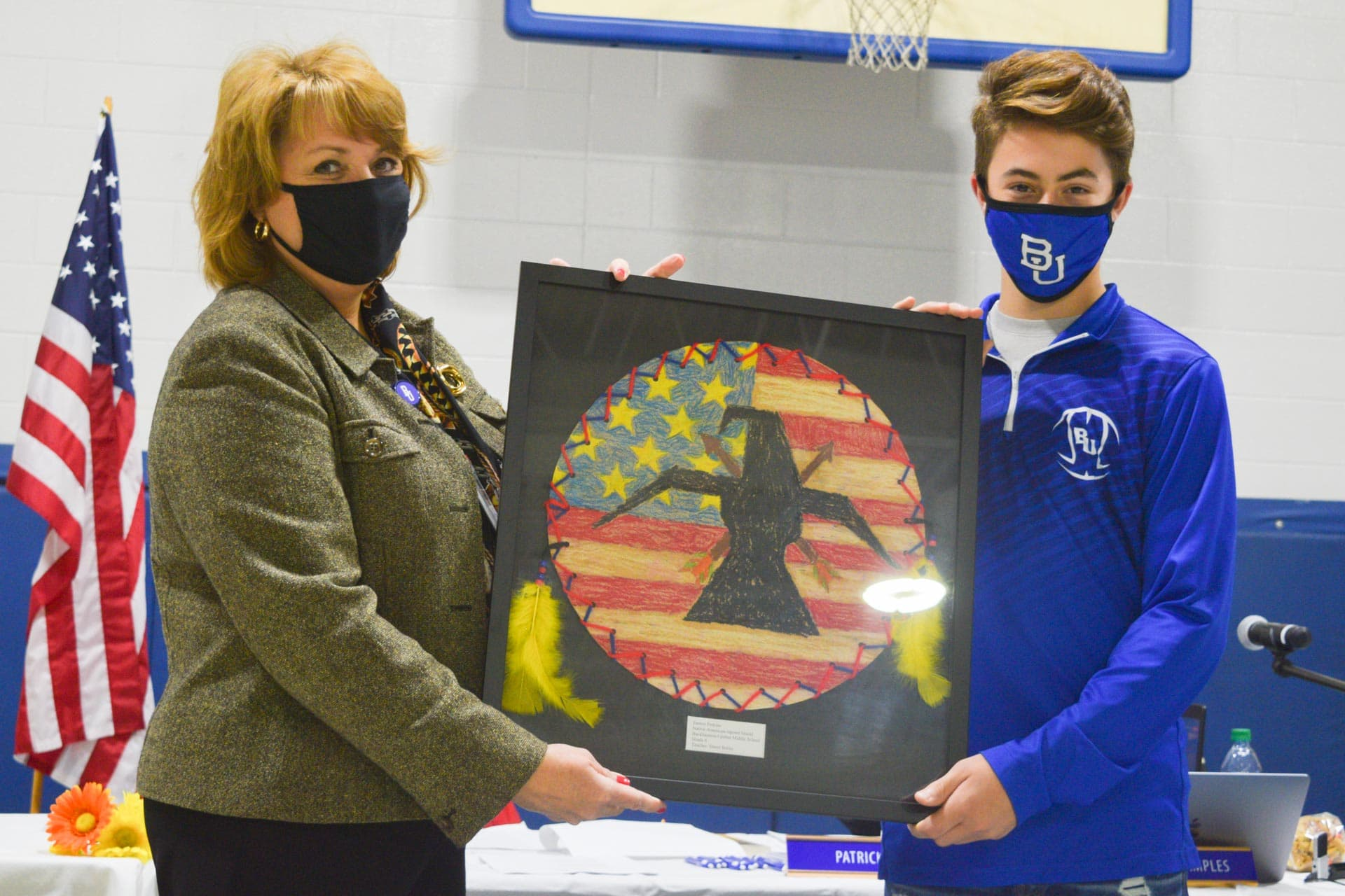 Students' artistic talent gleams as they are awarded Upshur Stars at BOE meeting