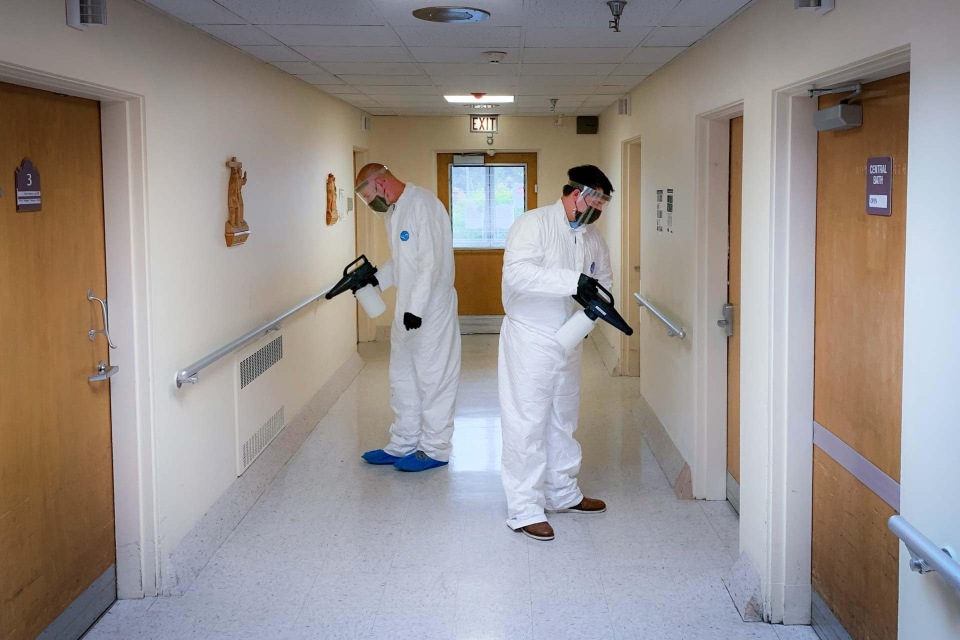 The Bacteria Busters team uses medical-grade disinfection solutions to help keep homes and offices germ-free.