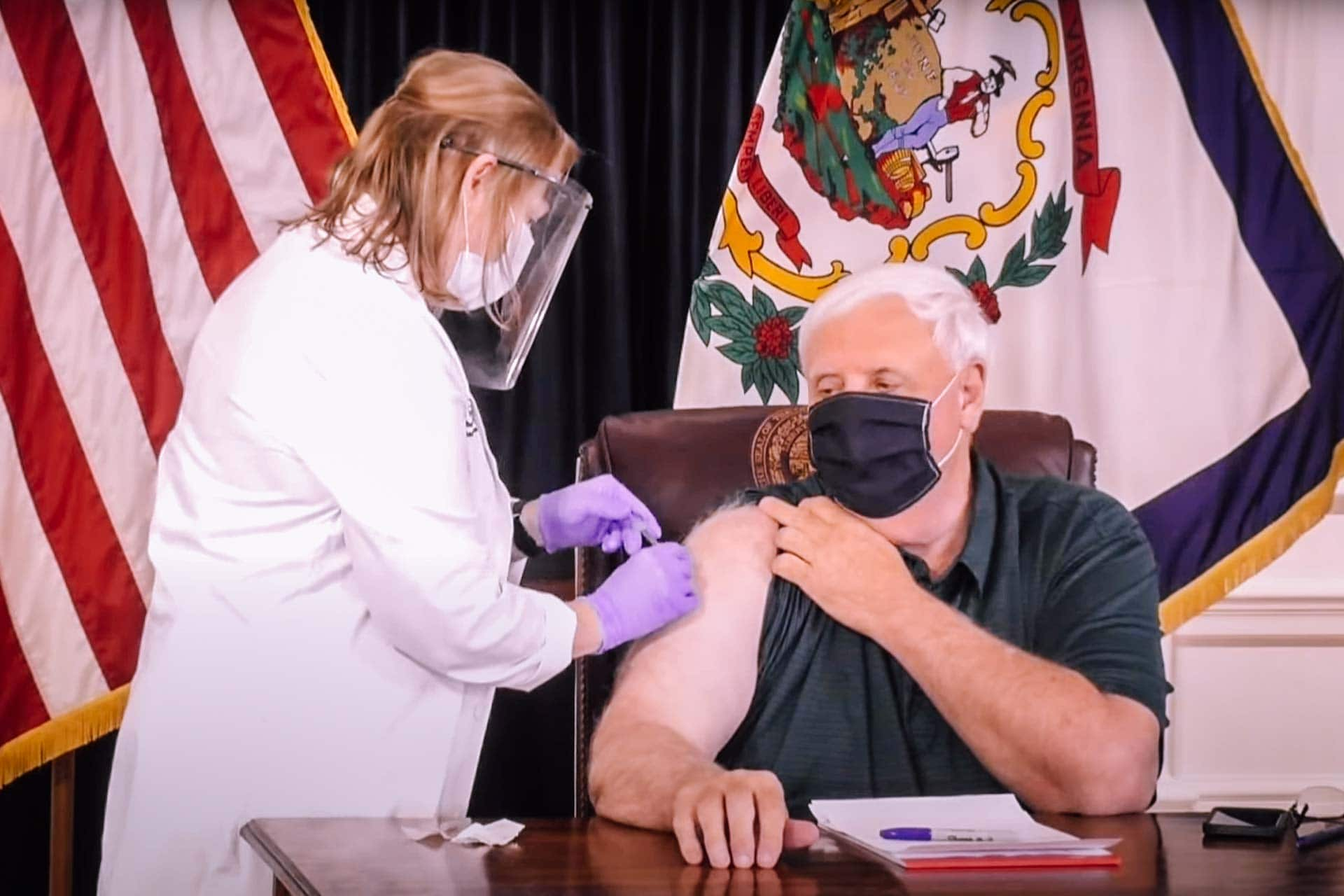 Gov. Justice: All eyes on West Virginia as 100 percent of vaccines received to date in arms or scheduled to be administered