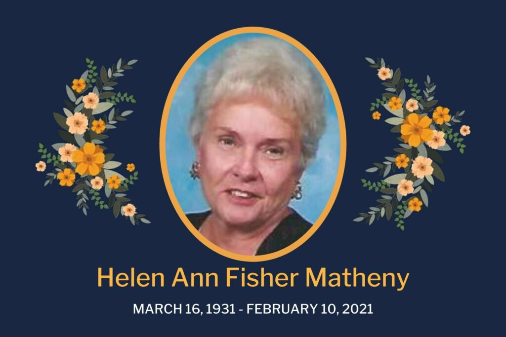 Obituary Helen Matheny