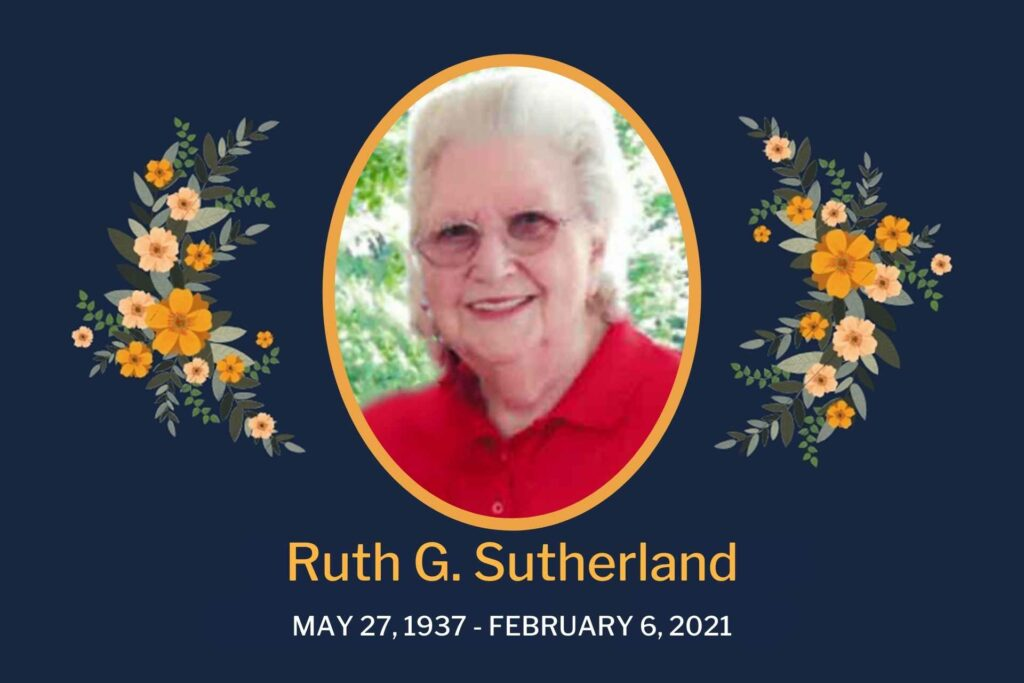 Obituary Ruth Sutherland