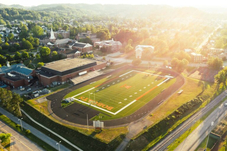 Cebe Ross Field on the campus of West Virginia Wesleyan College.