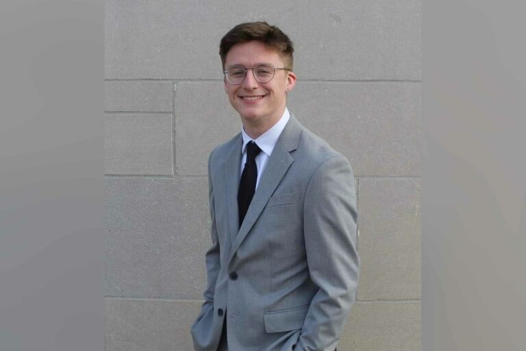 Ben Long, Notre Dame High School senior, winner of the West Virginia State Poetry Out Loud Finals.