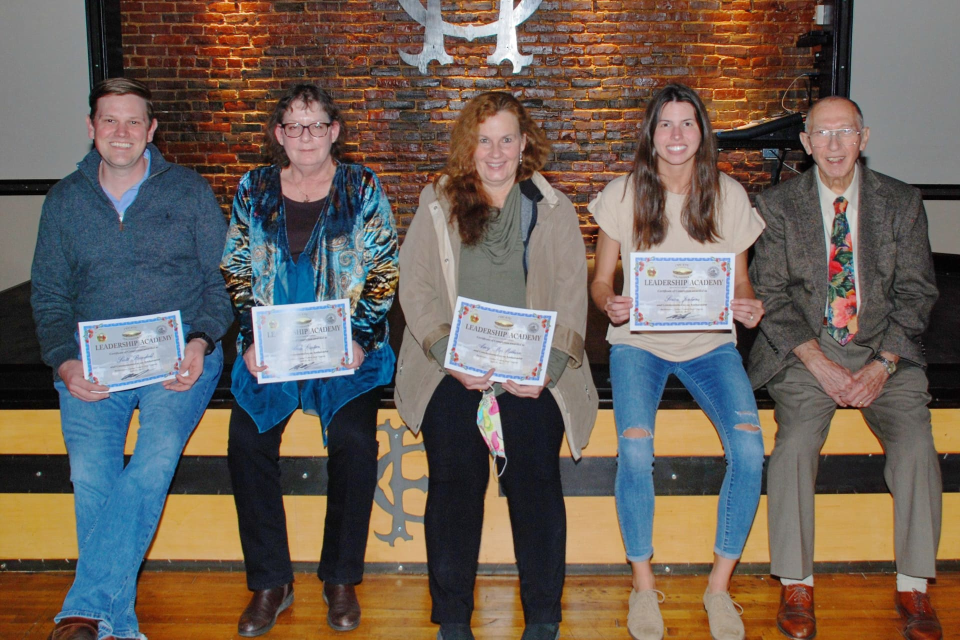 Graduates of the Leadership Academy 2021 include Scott Randall, Andi Cartier, Amy McMillan and Soran Jenkins. Not pictured are Carter Curry and Buck Edwards. The sessions, held virtually over 10 weeks, helped Upshur County residents learn more about city and county government and encouraged folks to attend the meetings and lend their voices on issues. The program was sponsored by Create Buckhannon and organized by Dr. Joseph Reed.